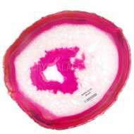 Agate Slices Pink 24cm