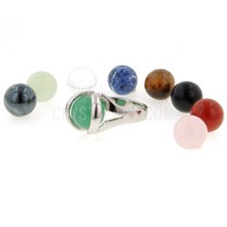 Gemstone Jewellery Ring Set