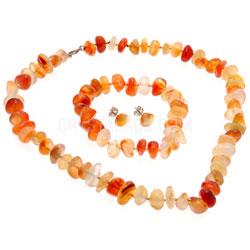 Gemstone Earrings Carnelian Gift Set