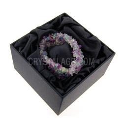 Gemstone Jewellery Fluorite gemstone chip cuff bracelet