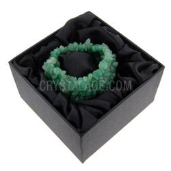 Gemstone Jewellery Green Aventurine Chip Cuff Bracelet