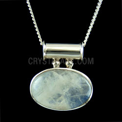 Moonstone Jewellery side oval pendant