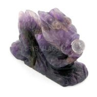 Chevron Amethyst Carved Chinese Dragon
