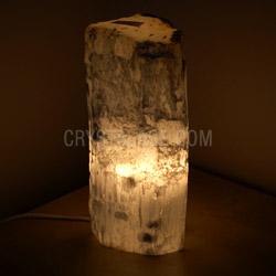 Selenite Lamp Log Natural Top