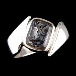 Super Seven Ring Small Rectangle in Silver