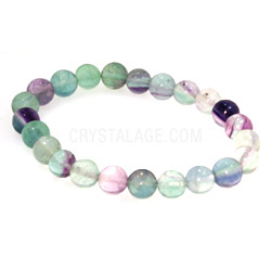 Fluorite Power Bead Bracelet