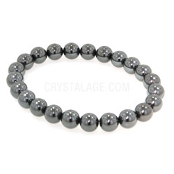 Hematite Power Bead Bracelet