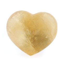 Honey Calcite Crystal Heart