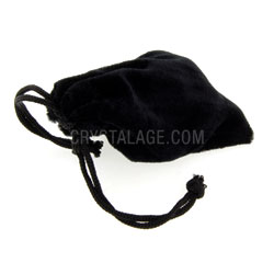 Black Suede Gift Pouch
