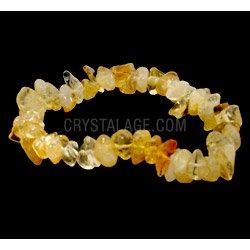 Citrine Gemstone Chip Bracelet