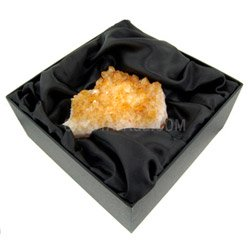 Large Citrine Cluster Gift Box