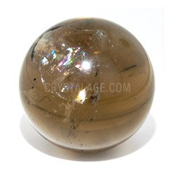 Smoky Quartz Crystal Sphere