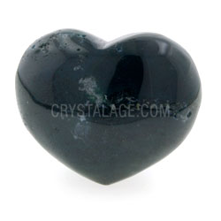 Moss Agate Crystal Heart