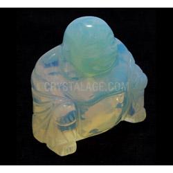 Opalite Carved Sitting Buddha Statue