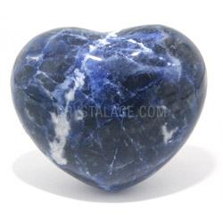 Sodalite Crystal Heart
