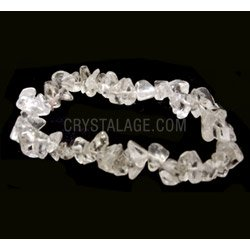 Quartz Gemstone Chip Bracelet