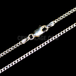Sterling Silver Medium Flat Curb Chain