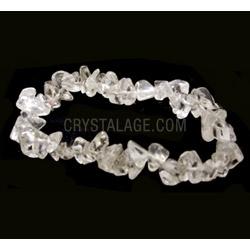 Quartz Gemstone Chip Bracelet