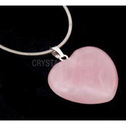 Rose Quartz Heart Pendant