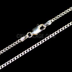 Sterling Silver Medium Flat Curb Chain
