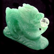Aventurine Carved Chinese Dragon