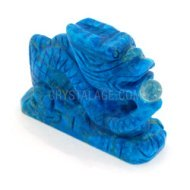 Blue Howlite Carved Chinese Dragon