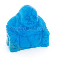 Blue Howlite Crystal Carved Sitting Buddha Statue
