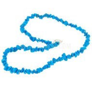 Blue Howlite Crystal Necklace