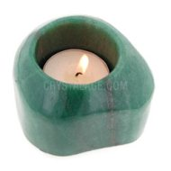 Green Aventurine Deep Polished Tea Light Holder
