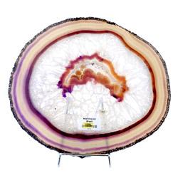 29cm Magenta Agate Slice