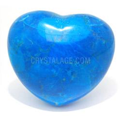 Blue Howlite Crystal Heart