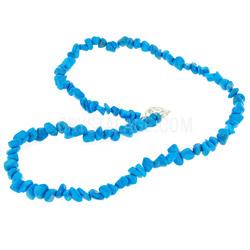 Blue Howlite Crystal Necklace