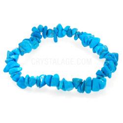 Blue Howlite Gemstone Chip Bracelet