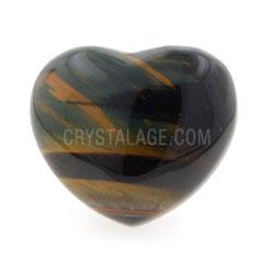 Blue Tiger Eye Crystal Heart