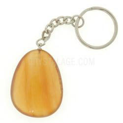 Carnelian Crystal Disc Fob Key Ring