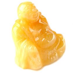 Orange Calcite Crystal Sitting Buddha Statue
