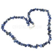 Sodalite Crystal Gemstone Chip Necklace