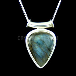 Labradorite Crystal One Off Pendant