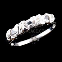 Morganite Crystal and Diamond 10g Ring