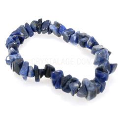 Sodalite Crystal Gemstone Chip Bracelet