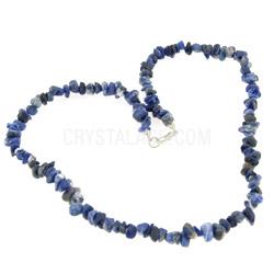 Sodalite Crystal Gemstone Chip Necklace
