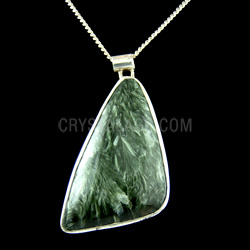 30mm Jagged Triangle Seraphinite Crystal Pendant