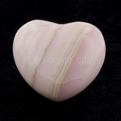 Mangano Calcite Crystal Heart