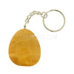 Mookaite Crystal Disc Fob Key Ring