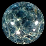 Blue Apatite Crystal Ball