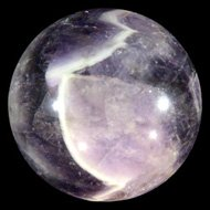 Chevron Amethyst Crystal Ball