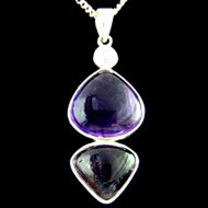 Double Amethyst Jewellery Pendant