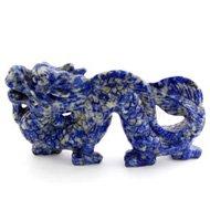 Lapis Lazuli Dragon Carving