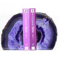 Purple Agate Bookends
