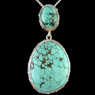 Turquoise Crystal Ovals Pendant